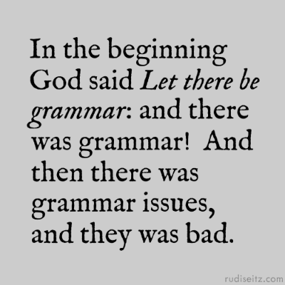 Grammar isn't everything